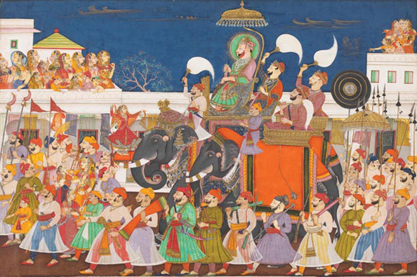 Indian Maharaja Procession